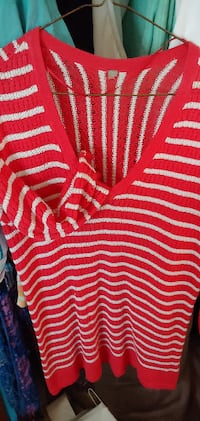 Red and white sweater Edmonton