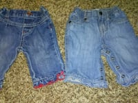 0-3 mnth Girls Jeans-Guess/Children's Place Sulphur, 70663