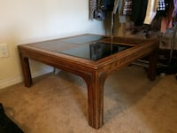 Aged Coffee Table Made of Solid Wood TORONTO
