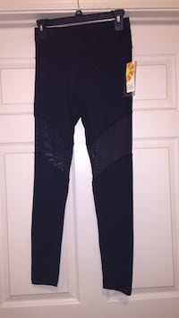 BRAND NEW black leggings with see-through portion