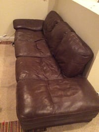 brown leather couch 2 piece Parker, 80138