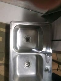 stainless steel twin sink with faucet Grand Prairie, 75051