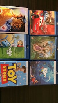 six assorted Blu-ray movie cases Los Angeles, 91331