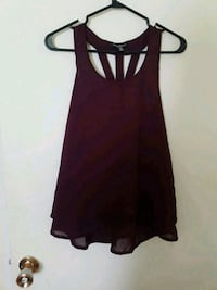 women's maroon sleeveless top Coquitlam, V3J 6J9