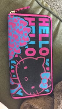black , blue and pink Hello Kitty long wallet