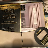 Brand new Black out curtains($20each set) Stockton, 95202
