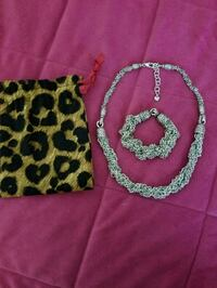 Silver plated Brighton bracelet and necklace set Eastvale