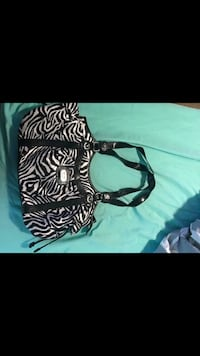 black and white Zebra handbag