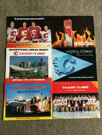 Lot of 6 1980s-1990s Calgary Flames Calendars Calgary, T2R 0S8