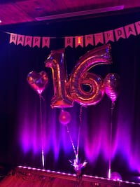 Rose gold Helium ballons for sweet 16  Dollard-des-Ormeaux, H9A 2J9