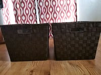 2 Large Brown Woven Storage Totes  Fort Worth, 76112