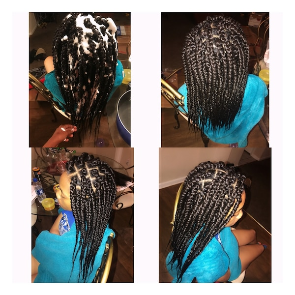 Used Small To Medium Box Braids Mid Back Length For Sale In