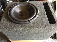 "Black and gray 12"" Diamond  subwoofer Lynnwood, 98037"