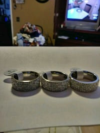 Stainless rings $5.00 dollars each size 8 9 10 Lancaster, 93535