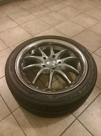 "Tires w/ 18"" XNZ chrome rims (4)"