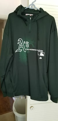 green Oakland Athletic's pullover hoodie