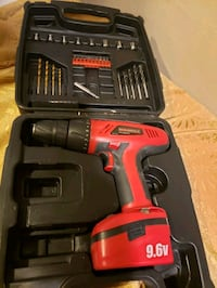 Cordless drill with lots of different bits no charger