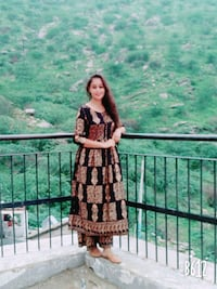 women's brown and black floral traditional dress Ajmer, 305203