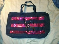 black and red striped tote bag Omaha, 68108