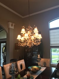 Chandelier very heavy and uniques!  $100 Garden Ridge, 78266