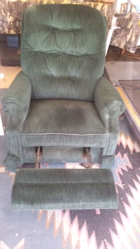 Hunter green recliner/rocker