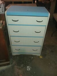 white and blue wooden 4-drawer chest Keeseville, 12944