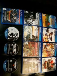 assorted Sony PS4 game cases 536 km