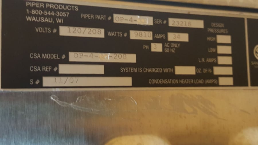 Piper Convection oven with Proofer 5ce1e2ee-d033-4141-992b-436071c6acd3