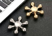 Gold and Silver Fidget Spinner