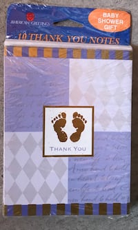 New 10pk Baby Shower thank u cards located off Cheyenne and rancho $1