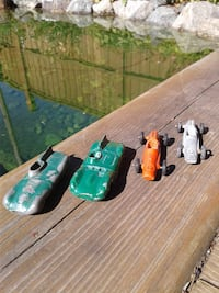 two green and red plastic toys Terrace, V8G 0H3