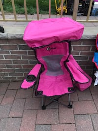 Children's pink chair with canopy shade and storage case Carlstadt, 07072
