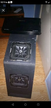 Speakers in box with amp Pine Prairie, 70576