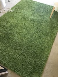 green and brown area rug