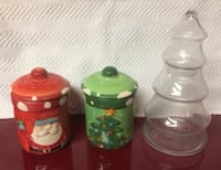 Christmas Canisters, Jar For Sale - New