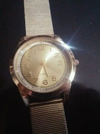 round silver-colored analog watch with link bracelet Edmonton, T5A 4P1