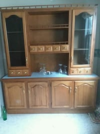 brown wooden TV hutch with flat screen television Johnstown, 15906
