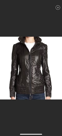 Mackage Perla packable rain jacket with hood black size small