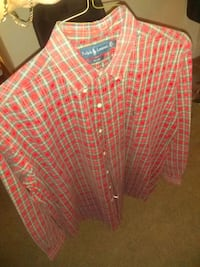 red and white plaid dress shirt Westchase, 33626