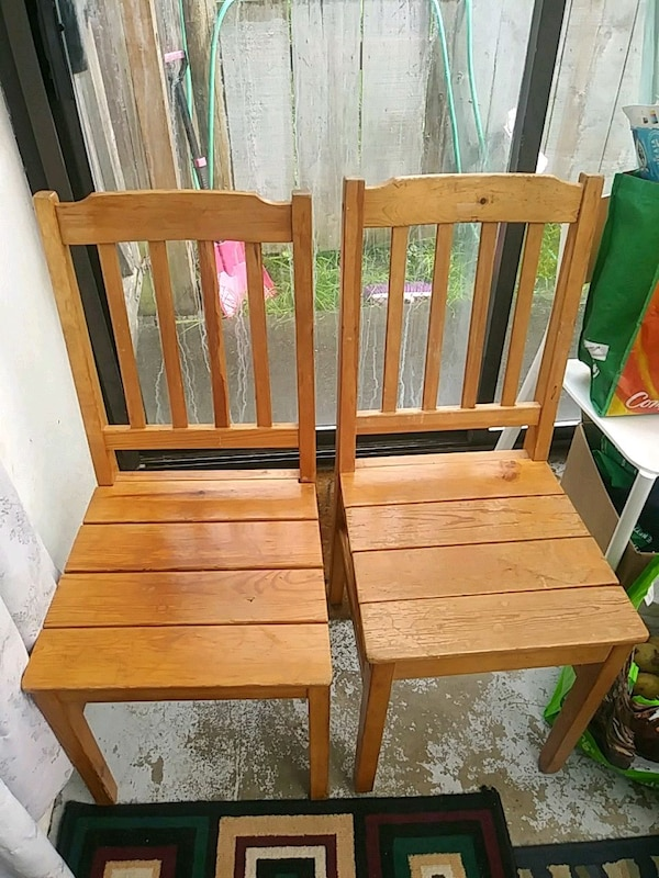 Wood chairs 15 each