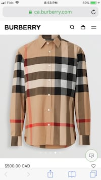 Burberry check shirt Mississauga, L5B 2C9