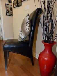 Dining chairs, from Mobilia, set of 4, leather espresso. Mississauga, L5A
