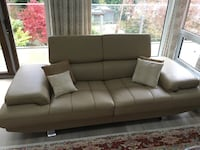 Leather sofa North Vancouver, V7N 1P2
