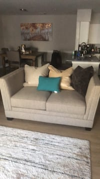 gray fabric 2-seat sofa Fairfax, 22030