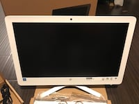 White hp flat screen computer monitor Reston, 20190