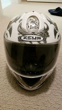white and black HJC full-face helmet Surrey, V3T 0L5