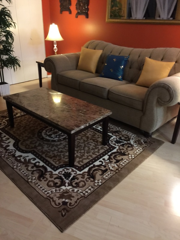 Marble top coffee table and end table set 8c760ef6-d50e-4fd9-a1e5-3e0fd5b9d249