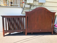 brown wooden bed headboard and footboard Clifton, 07011