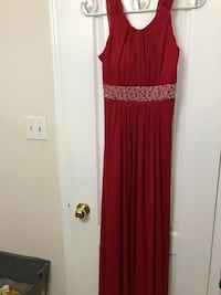 RED Graduation Dress With Zipper Brampton