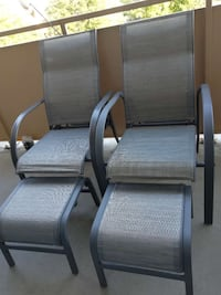 Two Reclining patio chairs with ottomans for sale Toronto, M6B